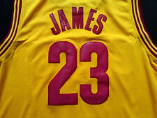 Cleveland Cavaliers  Lebron James #23 Yellow Jersey Free Shipping!!!