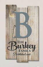 Personalized Rustic Family Name Sign Staggered Pallet Wood Style FREE SHIPPING