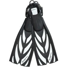 Sherwood Fusion Spring Strap Dive Fins Scuba Diving Black and White