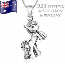 Stunning 925 STERLING SILVER Horse Pony Pendant & Chain Charm Necklace Gift New