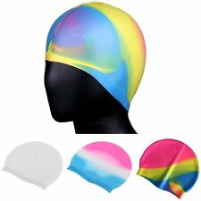 Silicone Waterproof Shower Swimming Pool Hat Unisex Adult Kids Children Swim Cap