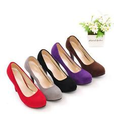 Womens Faux Suede leather Party High Heels Stilettos Wedding Shoes Pumps@Plus