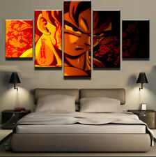 Framed Home Decor Canvas Print Painting Wall Art Dragon Ball Z Flame Poster