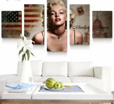 Framed Home Decor Canvas Print Painting Wall Art Marilyn Monroe America Poster