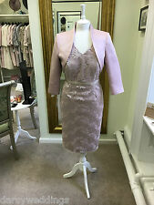 Pink Lace Mother of the Bride/Groom outfit by Sonia Pena.UK 20.
