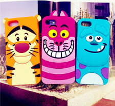 Hot 3D Animal Cute Cartoon Soft Silicone Case Cover For iPhone/Samsung/Huawei/LG