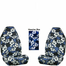 Universal-fit Hawaiian Hibiscus Floral Print Front Bucket Seat Covers.