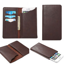 Universal Credit Card Wallet Bag PU Leather Case Cover Purse for iPhone Samsung