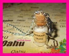 Mini Mermaid Tears Charm Bottle Necklace Pirate of the Caribbean Movie Themed