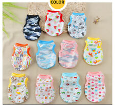 9PCS Lot Wholesale Boy Dog Clothes Girl Pet Cotton Vest Pet Puppy T-Shirt XS-XL