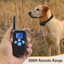 Dog Training Collar Waterproof Rechargeable LCD Electric Remote Shock Collar HM