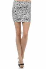 Skirt Small Medium Sexy Leopard Casual Mini Club Black White Soft New Print Size