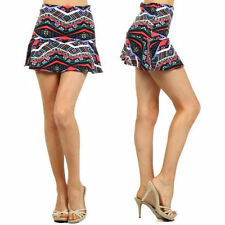 Skirt Mini Tribal Colorful Multi S M L Stretch Short New A Line Circle Flare