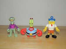 Figure lot of 3 Assorted Characters Spongebob Sqaurepants!