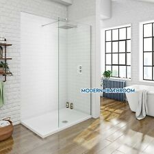 700-1000 Frameless Shower Enclosure Walk In Glass Screen Cubicle Panel Wet Room