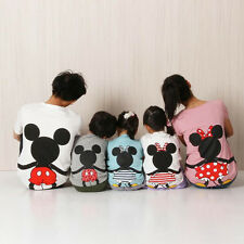 Family Matching T-shirt Mickey Minnie Birthday Party Theme Shirts Tops Clothes