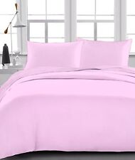 Pink Solid 100% Egyptian Cotton 1000 TC 35 Cm Drop 6 PCs Sheet Set