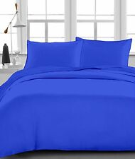Egyptian Blue Solid 100% Egyptian Cotton 1000 TC 35 Cm Drop 6 PCs Sheet Set