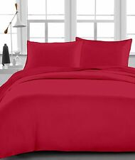 Burgundy Solid 100% Egyptian Cotton 1000 TC 35 Cm Drop 6 PCs Sheet Set