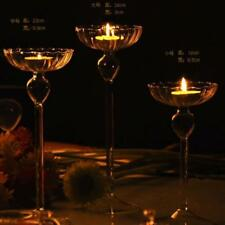 Clear Glass Tea Light Votive Candle Holder Candlestick Wedding Table Party Gift