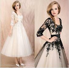 Women's Wedding Dress Party Bridal Lace Prom Ball Cocktail Formal Evening Gown@@