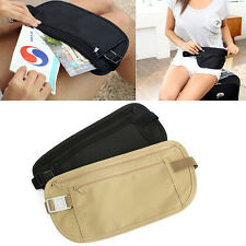 Fine Travel Pouch Hidden Compact Security Money Passport ID Waist Belt Bag Hot