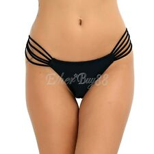 Women Swimwear Brazilian Cheeky Bikini Bottom Hollow Side Thong Bathing Swimsuit