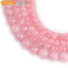 """Round Madagascar Natural Rose Quartz Crystal Loose Beads For Jewelry Making 15"""""""