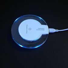 Acrylic Qi Wireless Charger Charging Pad Station Dock Stand Holder for Phone