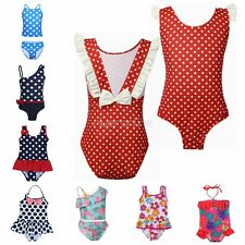 Girls Kids Baby Polka Dot Bikini Swimsuit Swimwear Bathers Swimming Beachwear