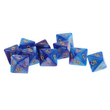 10pcs 8 Sided Dice D8 Polyhedral Dice for Dungeons and Dragons Game Dice New