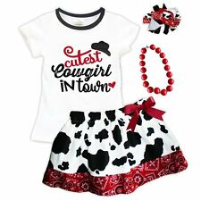 Western Wear Cutest Cowgirl in Town Red White Skirt Set Pageant Outfit USA