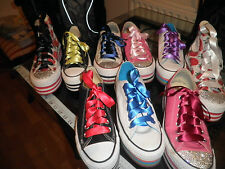 satin ribbon shoe laces  for hi top or trainer.superior quality.