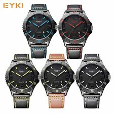 NEW Quartz Men Watch Alloy Fashion Luxury Trendy Leisure EYKI Wristwatch US KEP