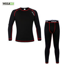 Men Winter Cycling Thermal Fleece Quick-dry Warm Suits Long Sleeved Jersey Pants