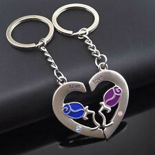 Lot 2PCS Couples Key RingSet for Lovers Key Chain Set Keychain Keyfob High Sale