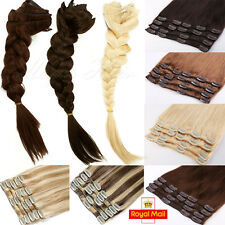 Premium FULL HAED Clip in Remy Hair Extensions 100% REAL Human Hair Extensions