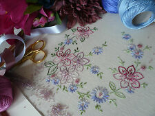 Transfered Embroidery Kit: 'Rosie' : Beautiful Embroidery Kits By Maggie Gee