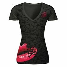 Women Short Sleeve V neck Casual Printed Slim Fit T-Shirt Plus Size