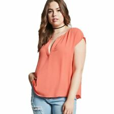 Women Plus Size Solid Color Simple Sleeveless V neck T shirt