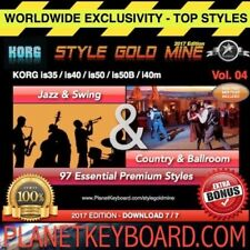 97 NEW SUPER STYLES Swing Jazz &Country BallRoom Korg IS35 IS40 IS50 IS50B I40M