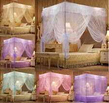 Princess 4 Corner Post Bedding Canopy Mosquito Netting Or Bed Frame Twin Size