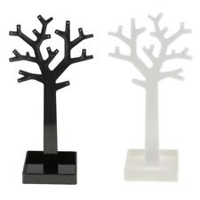 Acrylic Jewelry Display Tree Stand Holder Earrings Necklace Ring Organizer