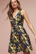 New Anthropologie $228 Bird Jacquard Dress by Eva Franco sz 2 4P Sold Out!