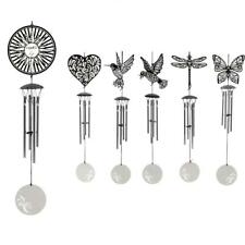4-Bells Stainless Steel Wind Chimes Home Cafe Window Hanging Decor Windchimes