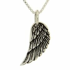 Angel Wing Necklace ~ 925 Sterling Silver ~ Guardian Angel Pendant Box Chain