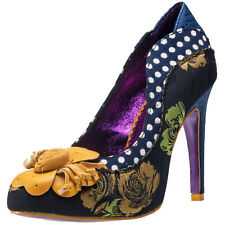 Poetic Licence by Irregular Choice Ursula Womens Shoes Navy Floral New Shoes