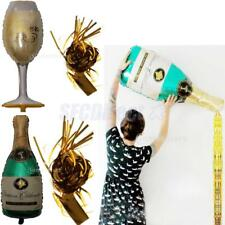 Wine Champagne Bottle Big Festival Tinsel Balloon Wedding Birthday Party Decor
