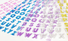 Bling Crystals Glitter Alphabet Letter Stickers - Crafts Self Adhesive A-Z Words