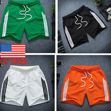 US Mens Quick Dry Casual Jogger Sports Beach Running Short Pants Trousers M-2XL